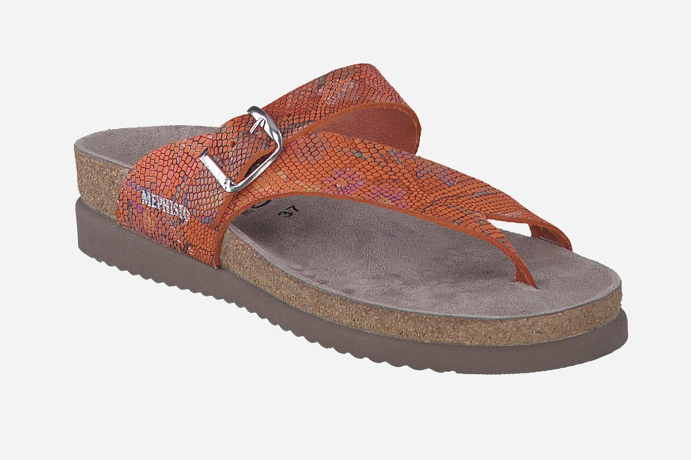 Helen Sun Sandal Mephisto Women S Cork Footbed Sandals Leather With