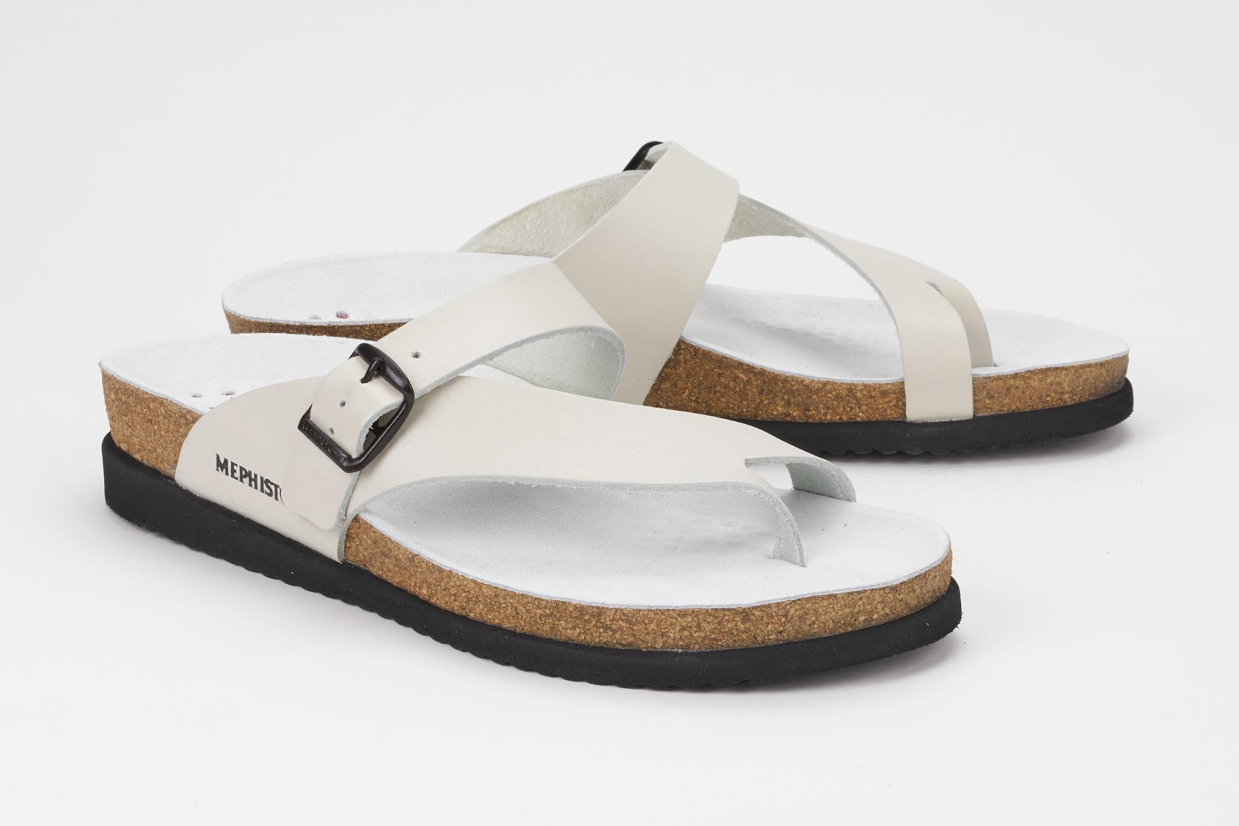 Helen Sandal Mephisto Women S Cork Footbed Sandals Smooth Leather