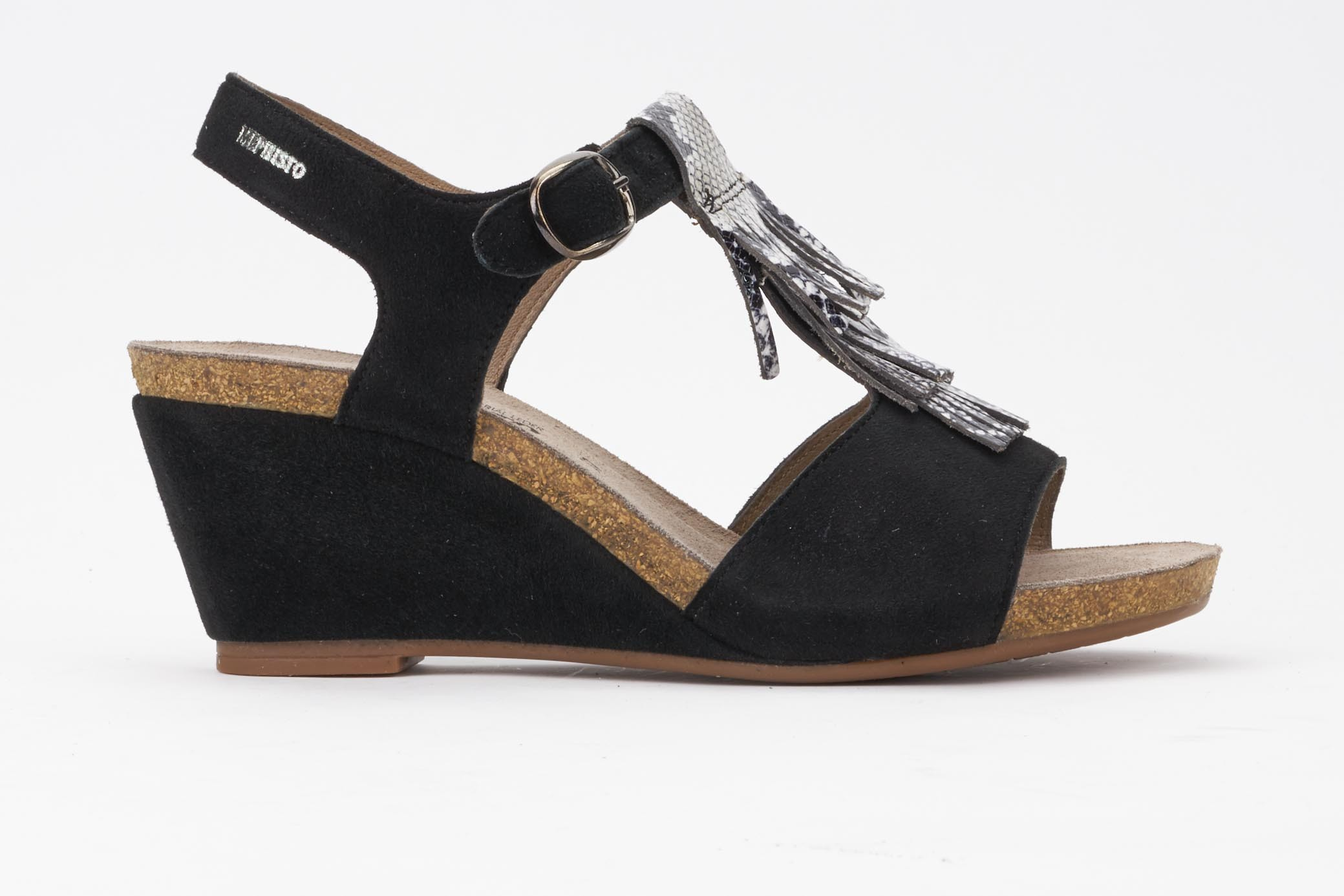 MixBlack Mephisto Women's Sandal Jenny WedgesLeather Material yvOP8nmNw0