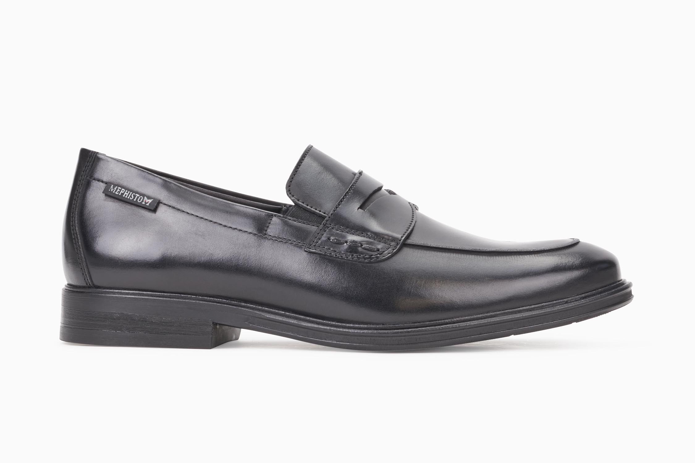 036656fc05 NILSON Slip-on - MEPHISTO Men's Loafers and Slip-ons   Smooth leather, black