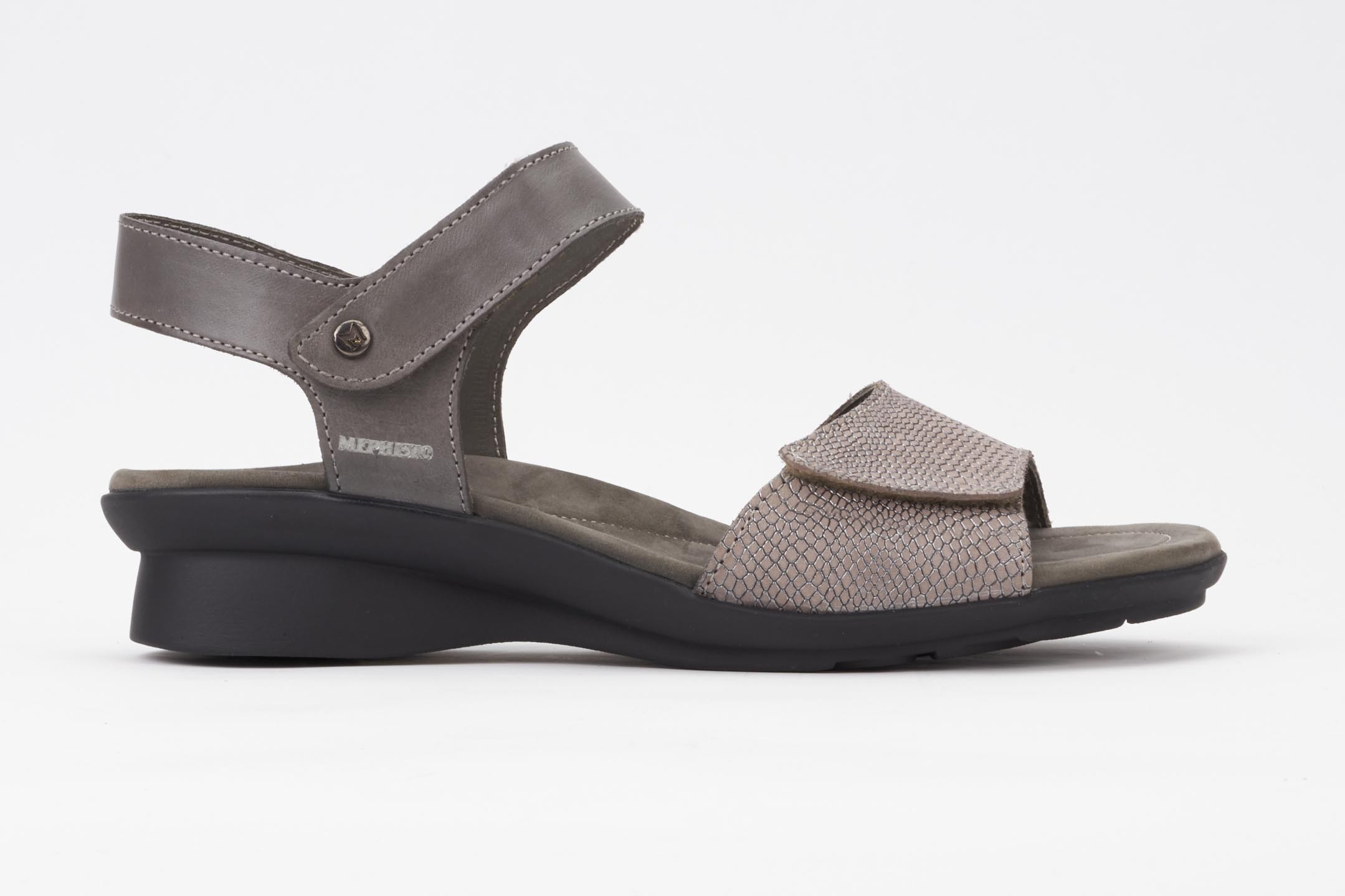 f5839fe1b1e PATTIE Sandal - MEPHISTO Women's Ankle Strap Sandals | Smooth leather, dark  grey